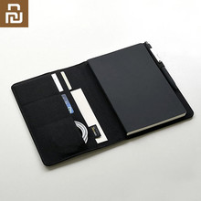 Youpin Kaco Noble Paper Black NoteBook PU Leather Card Slot Wallet Planner Book For Traveler Diary Office Pen Gift
