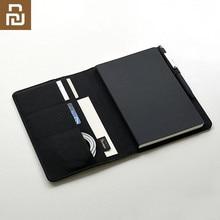 Youpin Kaco 고귀한 종이 검은 노트북 PU 가죽 카드 슬롯 지갑 플래너 도서 여행자 일기 사무실 펜 선물