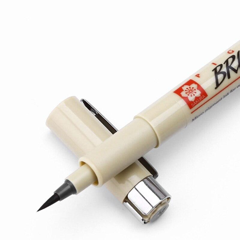 Художественные маркеры кисть для рисования ручка Sakura Pigma Micron Neelde мягкая Ручка 005 01