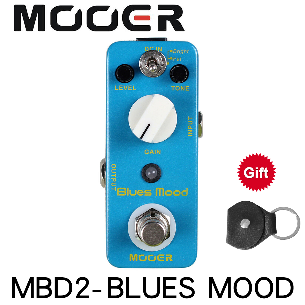 MOOER MBD2 Blue Mood Guitar Pedal Blues Style Overdrive Guitar Effect Pedal 2 Modes(Bright/Fat) True Bypass Full Metal Shell image