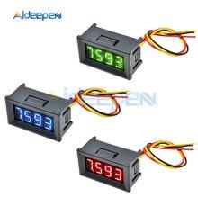 Mini voltímetro Digital de 0,36 pulgadas, CC 0-100V 10A, medidor de voltaje de voltios con Panel de 4 dígitos, Detector de pantalla LED para coche