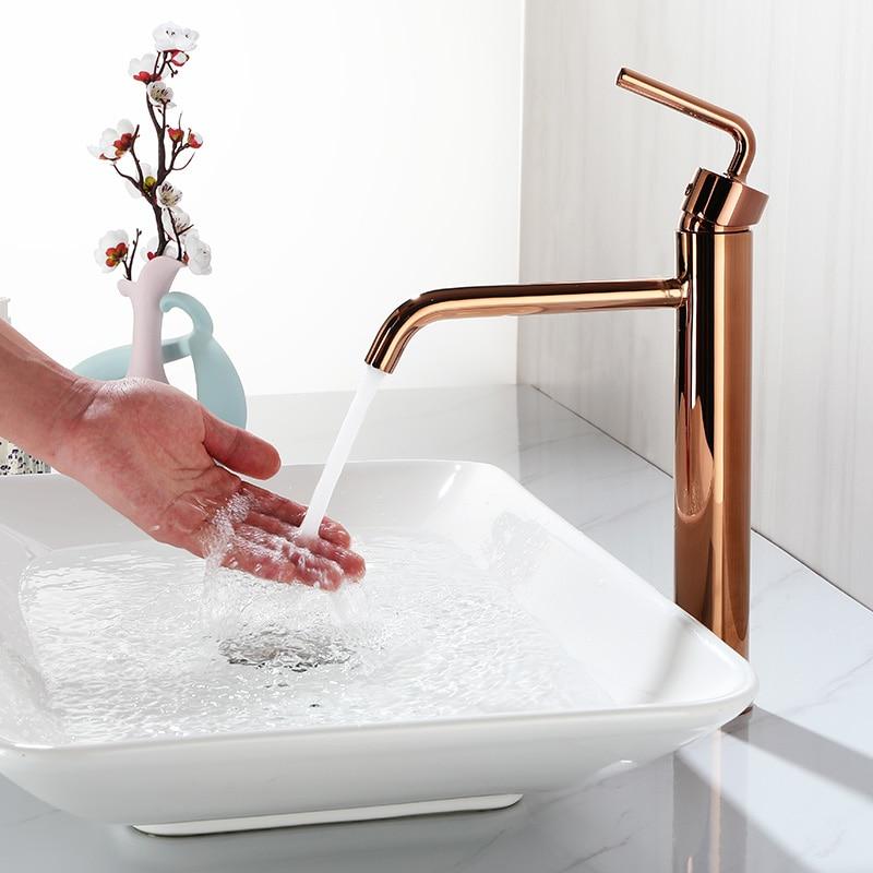 Смеситель для ванной комнаты хромированный/черный/матовый золотой/розовое золото латунь смеситель для холодной и горячей воды на палубе|Смесители для бассейна|   | АлиЭкспресс