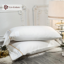 Liv-Esthete 100% Silk White Pillowcase Women Luxury 25 Momme Beauty Healthy Hair Pillow case Standard For Man Bed Pillow Cover