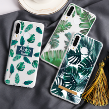Banana Leaf Phone Case For Huawei Mate 30 20 10 P20 P30 P10 Lite Plus Pro P Smart 2019 Green Plant Leaves Soft TPU Coques Covers(China)