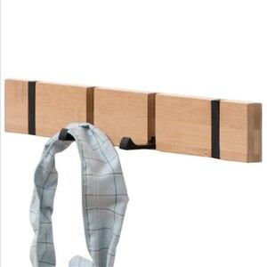 Natural Wood Hooks Hanger Hold