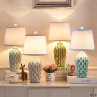 Modern Ceramic LED Table Lamps Bedroom Bedside Lamp Nordic Vanity Light Desk Lamp Living Room Table Lights Home Decor Fixtures