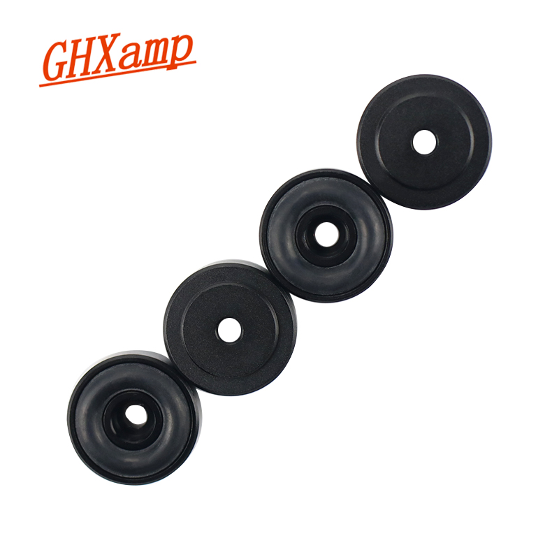 GHXAMP 4PCS 20*8MM Speaker Spikes Amplifier Aluminum Foot Pad Machine DAC Decoder Audio Speaker Computer Case Shock