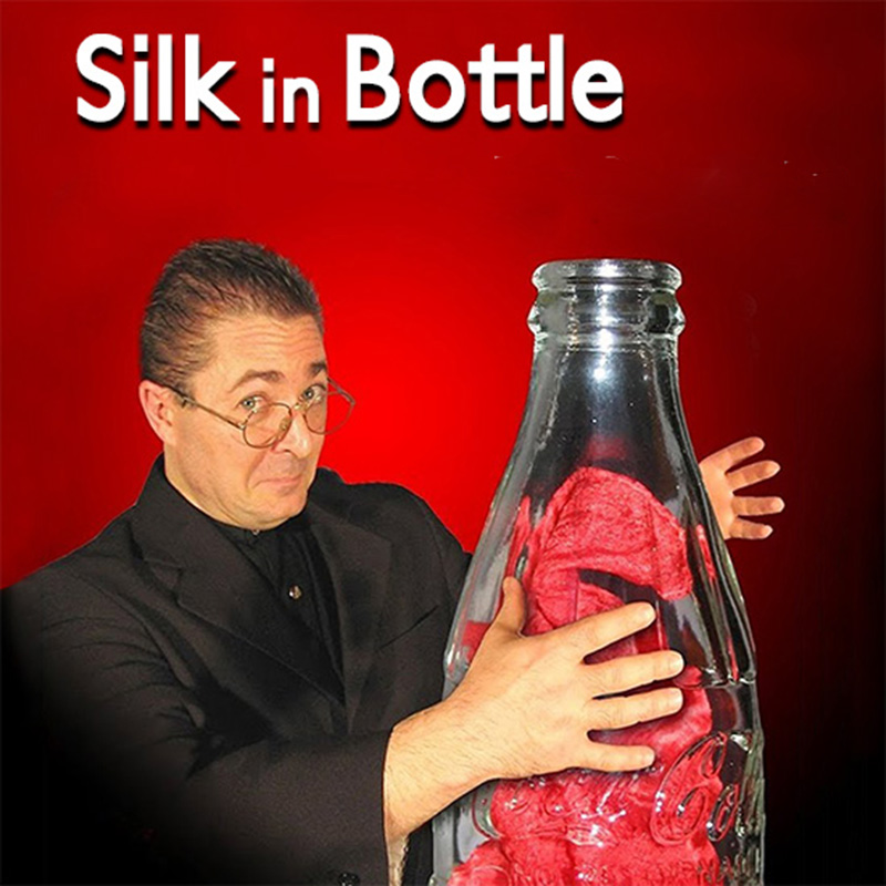 Silk In Bottle Magic Tricks Magician Stage Illusions Gimmick Prop Mentalism Comedy Amazing Silk Appear In Empty Bottle Magia