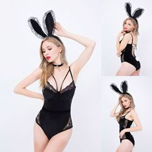 Sexy shop girl sexy bunny underwear temptation dress perspective suspenders uniform fancy play costume