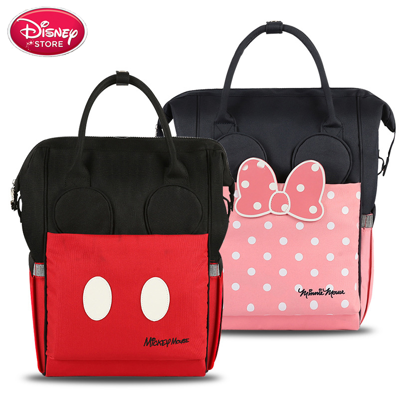 Disney Bag For Mummy Diaper Nappy Bag USB Heating Bottle Warmer Minnie Mickey Mouse Travel Backpack Waterproof Baby Care