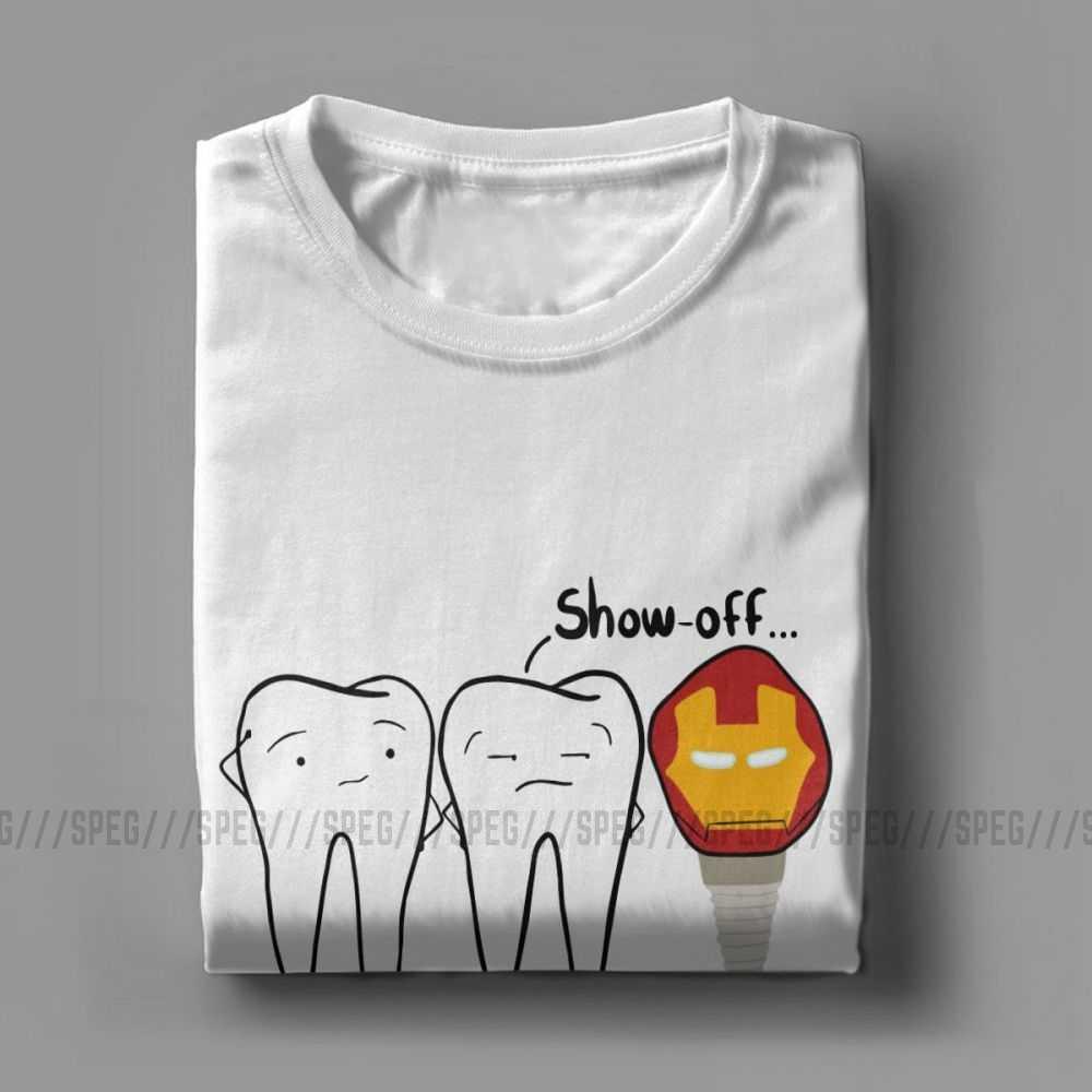 גברים של T חולצות שחצן שן חידוש קצר שרוול שיניים שתל רופא שיניים רפואת שיניים Tees O צוואר חולצות טהורים כותנה 4X 5X חולצה