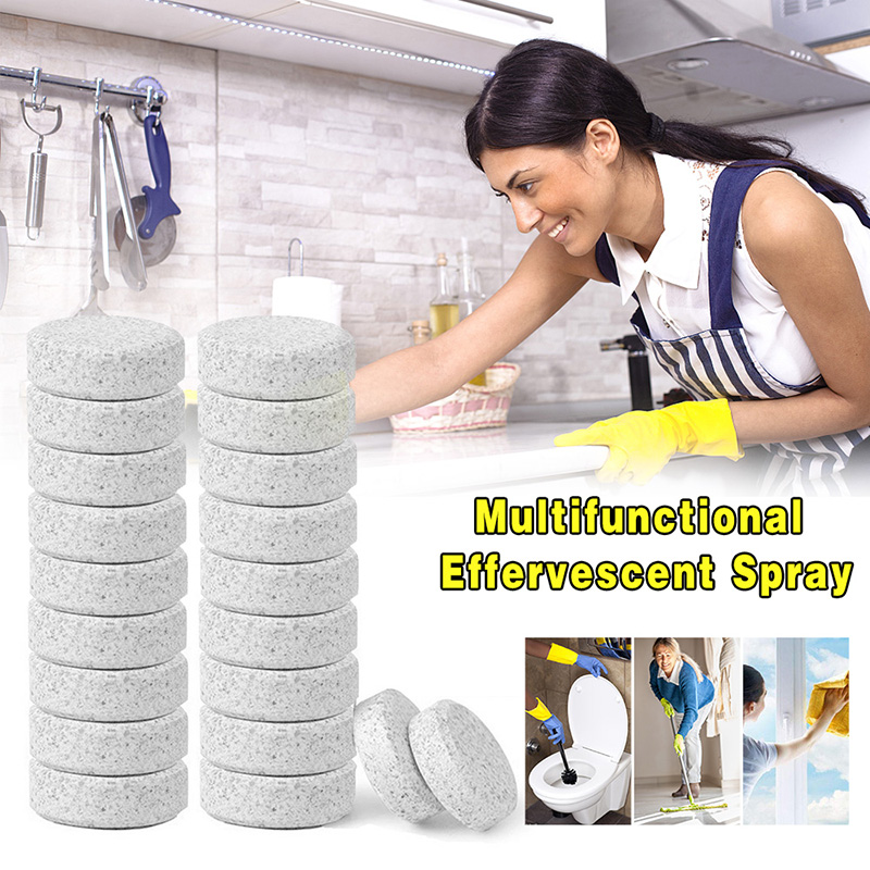 1.6cm/0.787'' Ultifunctional Effervescent Spray Cleaner Concentrate For Home Cleaning Concentrate Home Cleaning Tools White