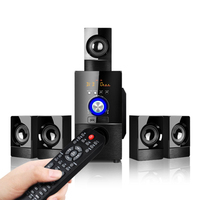 5.1 Channel Home Theater Speaker System, Bluetooth \ USB \ SD \ FM Radio Remote Control Touch Screen, Subwoofer Wood Audio