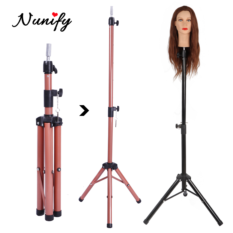 Wig Stand For Mannequin Head Professional Black Hairdresser Tools Tripod Stand For Hair Salon 1.25Meters Maniquin Head Stand