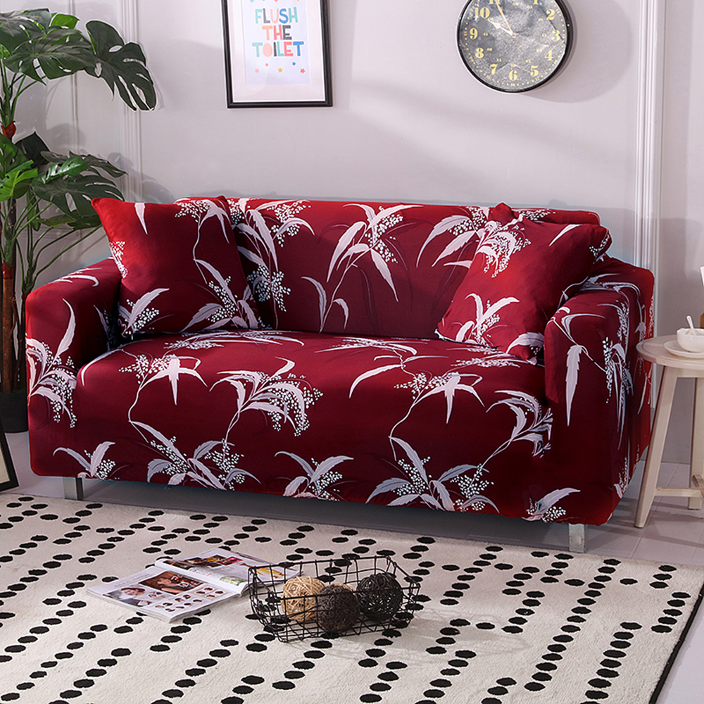 Stretch Sofa Covers Furniture Protector Polyester Spandex Loveseat Couch Cover L 1/2/3/4-seater Arm Chair Cover For Living Room