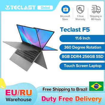 Teclast F5 11.6'' Touch Screen Laptop 8GB DDR4 256GB SSD Windows 10 Notebook Intel N4100 1920X1080 IPS Type-C 360 Flip&Fold PC 1