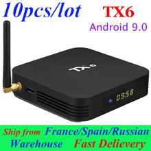 10pcs/lot TX6 Android TV Box Smart Box A