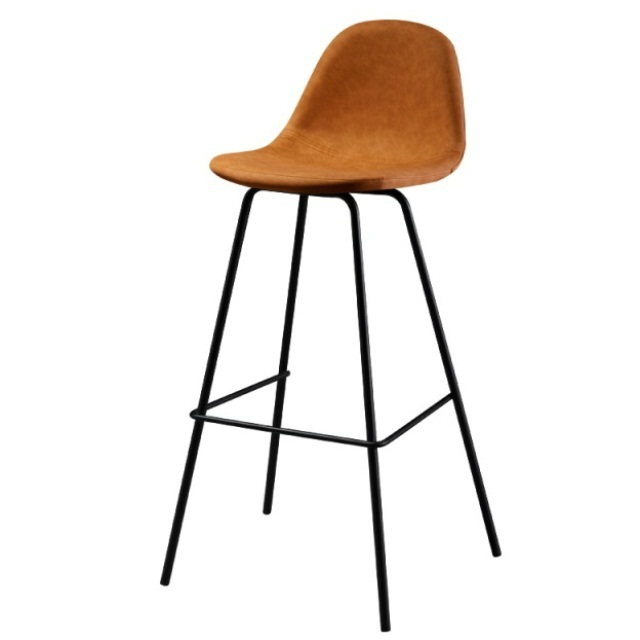 Nordic Bar Chair Modern Simple Back Metal Bar Chair Net Red Milk Tea Restaurant Household Iron High Stool