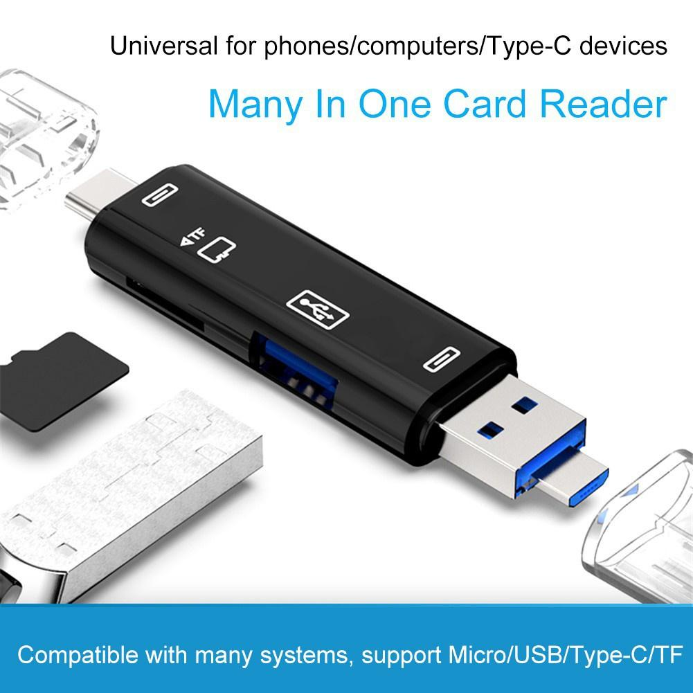 Multifunctional Usb Card Reader High Speed SD/TF MicroSD Card Reader Type C USB C Micro USB Memory OTG Card Reader For Laptop