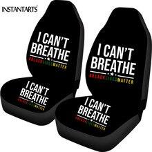 INSTSNTARTS I cant breathe Black Lives Matter Design Car Seat Covers 2 PCS 2020 Universal fit Vehical,Sedana SUV Cushion