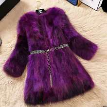 LEDEDAZ 100% Real Fox Fur Coat X-Long Slim Womens Winter Jacket & Luxury Natural Plus Size Vest