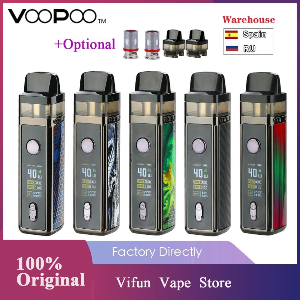 Kit de Vape d'origine VOOPOO VINCI Mod avec batterie 1500mah et coque 5.5ml et Kit de Vape pour écran couleur TFT 0.96 pouces Vs Vinci X/glisser 2
