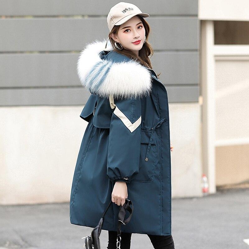 KMETRAM Winter Jacket Women Faux Fur Collar Parka Women Coat Female Korean Long Jacket Warm Parkas Manteau Femme A69675