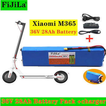 36V 28Ah Scooter Battery Pack for Xiaomi Mijia M365 36V 28000mAh Battery pack Electric Scooter BMS Board for Xiaomi M365+Charger image