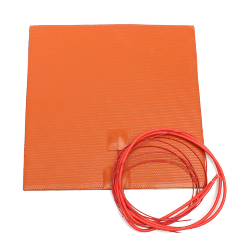 Silicone Heated Bed Heating Pad Flexible Waterproof 200x200/220*220/300x300mm Customized 12V/220V For 3D Printer Parts Hot Bed