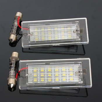 2Pcs Car License Plate Lights 12V 18 LED Number Lamps Plate Light Tail Light for BMW X5 E53 X3 E83 Car Led Light Car Accessories image