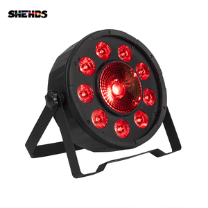 Image 1 - 4 قطعة/الوحدة LED الدهون الاسمية 9X10W + 1X30W RGB ضوء RGB 3IN1 LED المرحلة الإضاءة DJ ضوء DMX Led الاسمية أضواء الحفلات