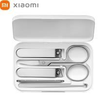 XIAOMI Mi נייל קליפר חמש חתיכה סטים עם אחסון תיבת Xaomi נייל חותך סכין מקצועי Xiomi יופי כלי נירוסטה