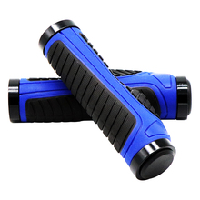 New Bicycle Grips MTB Bike Bar Ends Handlebars Rubber Aluminum Lock Ring Ergonomic Handle Mountain Cycling Accessories