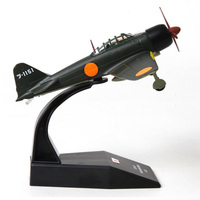 1/72 A6M3 Navy Army Fighter Scale Japan Air Force Zero Aircraft Model Airplane Toys Adult Children Gifts Military Display Show