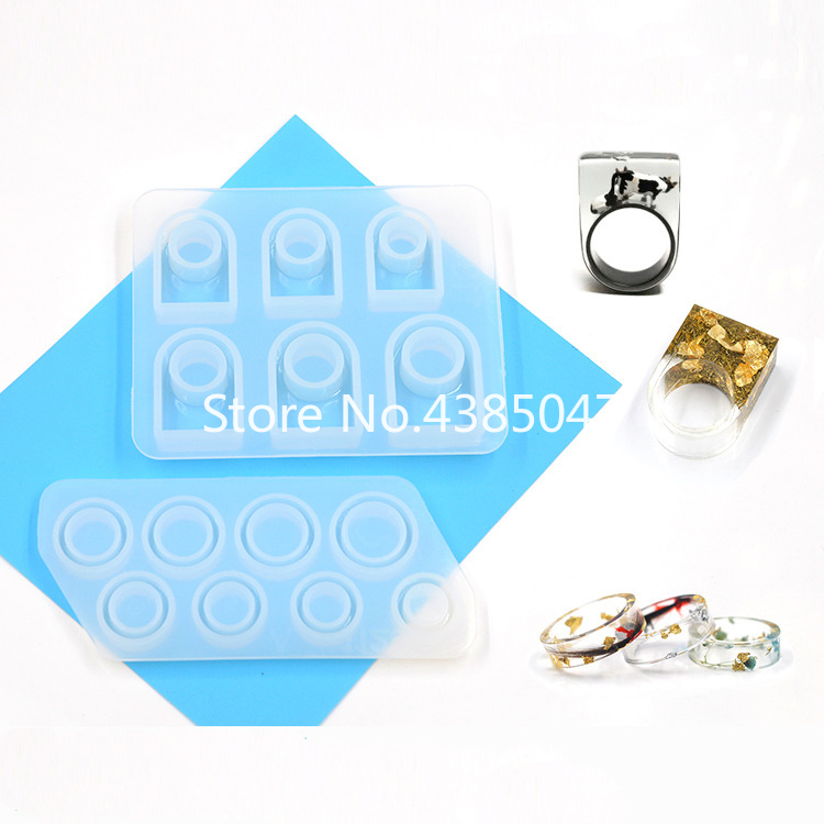 Ring Mold Silicone Jewelry Accessories Jewelry Tools DIY Ring Collection UV Resin Jewelry Molds