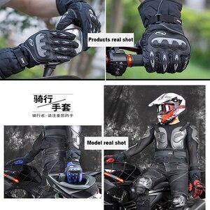 Image 2 - Распродажа, новые мотоциклетные перчатки, зимние теплые водонепроницаемые перчатки для спорта на открытом воздухе, лыжного спорта, мотоцикла, мотокросса, гоночного велосипеда