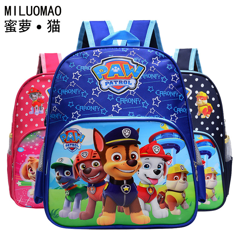 CHILDREN'S School Bags Young STUDENT'S 1-3 Grade 6-10-Year-Old BOY'S GIRL'S Cartoon Paw Patrol Burden Relieving Spine-Backpack