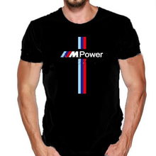 Модные брендовые мужские футболки с принтом для Bmw M power Fun, Классические Летние Стильные футболки, европейские размеры XXXL, мужские футболки