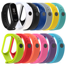 Watch Silicone Wrist Strap for Xiaomi Mi Band 4 Xiomi Miband 4 Xaomi M4 band4 Bracelet Accessories on My Mi Band 4 Strap Durable(China)
