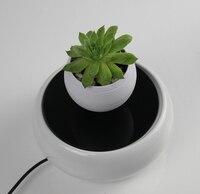 Office Home Desk Decoration Flowerpot Floating Rotated Pot Imitation porcelain Base Festival Christmas Gift Children Toys