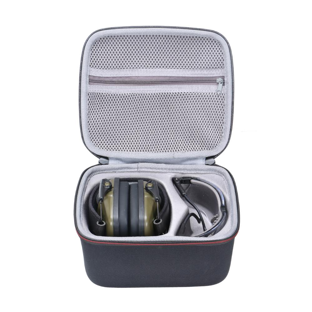 XANAD EVA Case For Both Howard Leight By Honeywell Impact Sport Earmuff And Genesis Sharp-Shooter Safety Eyewear Glasses