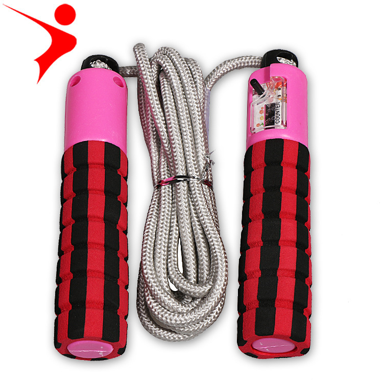 Regail 219 Cotton Binder Jump Rope Game Jump Rope Automatic Counting Jump Rope Sponge Handle