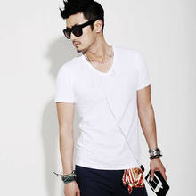 Gothic Koreaanse Mannen Gym Spier Bodybuilding T-shirt Cotton Blend Sport Slim Fitness Masculina Casual Stranger Dingen Tops(China)