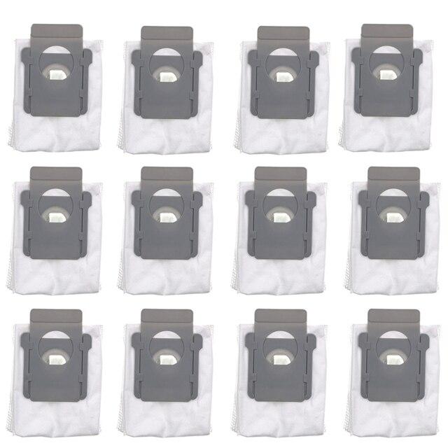 6 ピース/12 ピースアイロボットルンバ i7 i7 + プラス E5 E6 ロボット掃除機ダストフィルターバッグロボット集塵機アクセサリー