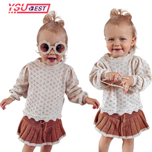 Outerwear Sweaters Baby-Girls Spring Toddler Kids Knit Pullover Autumn Hollow-Out Solid