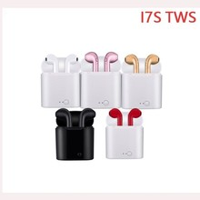 Free Shipping RU I7s Tws In-ear Bluetooth Earphone Wireless Earbud Headset With Mic With Charging Box For Iphone All Smart Phone