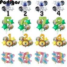 0 1 2 3 4 5 6 7 8 9 geburtstag Anzahl Ballons Sets Dschungel Party Weltraum Party Dekorationen ballons 40 zoll Großen Folien Ballons