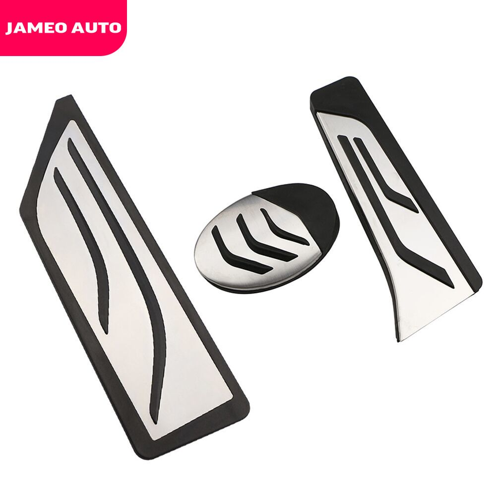 Jameo Auto Car Gas Pedal Brake Pedals Rest Foot Pedal Cover for <font><b>BMW</b></font> <font><b>X1</b></font> F48 2-series Touring 218i 220i 220d 225xe LHD <font><b>Accessories</b></font> image