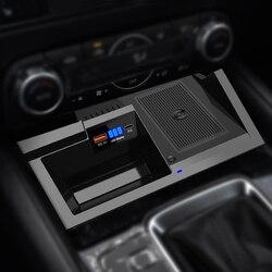 LHD Беспроводная зарядная панель для телефона Mazda CX-5 2017 2018 USB3.0 быстрая Беспроводная зарядка зарядное устройство Держатель для Mazda CX5 2019