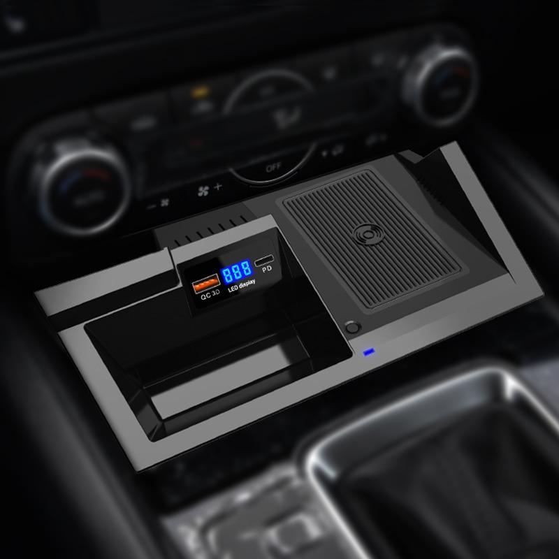 LHD Wireless Charging Phone Panel For Mazda CX-5 2017 2018 USB3.0 Fast Wireless Charging Charger Pad Holder For Mazda CX5 2019